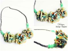 Beads and Fabric Necklace